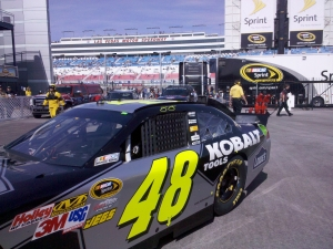 Jimmie Johnson in the #48 car in Las Vegas.