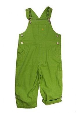green denim overalls