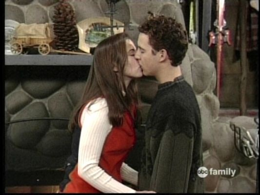 Lauren kissing Cory on the senior ski trip.