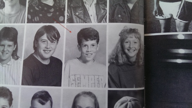 me in 5th grade sporting a Semper Paratus shirt, next to Whitney Williams.