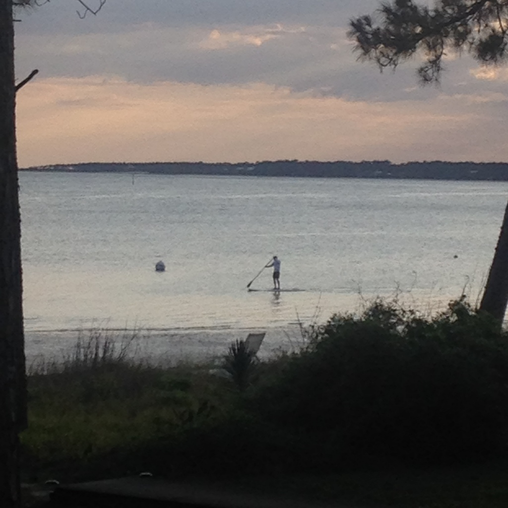 paddleboarding in the Gulf